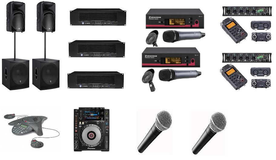 Audio Equipment Hire London